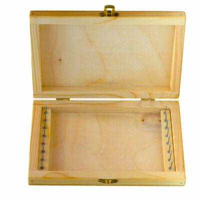 Fa előketartó doboz