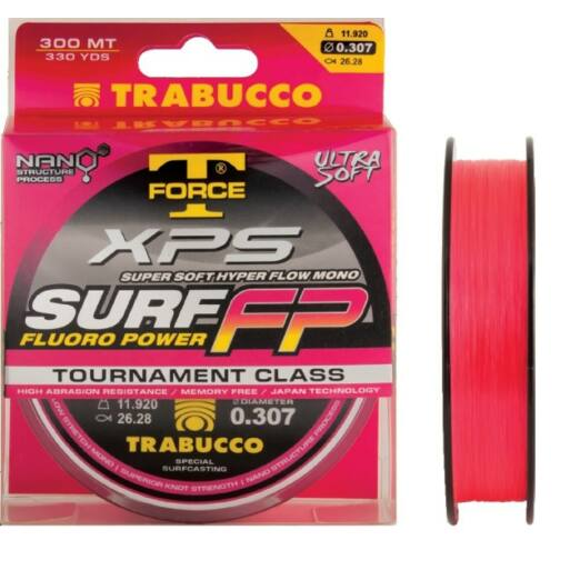 Trabucco T-Force Xps Surf Fluoro Power 600 m 0,28 mm zsinór