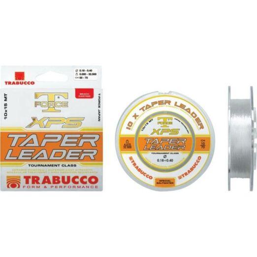 Trabucco T-Force Xps Taper Leader 10*15 m 0,57-0,26 mm elvékonyodó távdobó előke